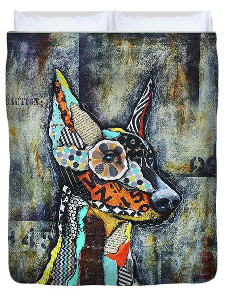 Doberman Pinscher Duvet Cover by Patricia Lintner