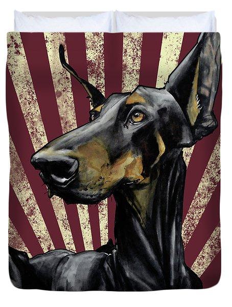 Doberman Revolution Duvet Cover
