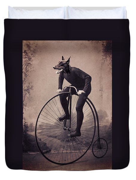 Doberman Velocipede Duvet Cover