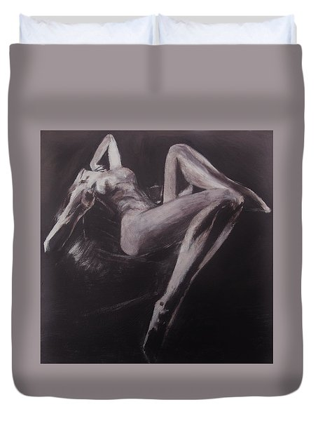 Duvet Cover featuring the painting Doce Pecadora Love by Jarko Aka Lui Grande