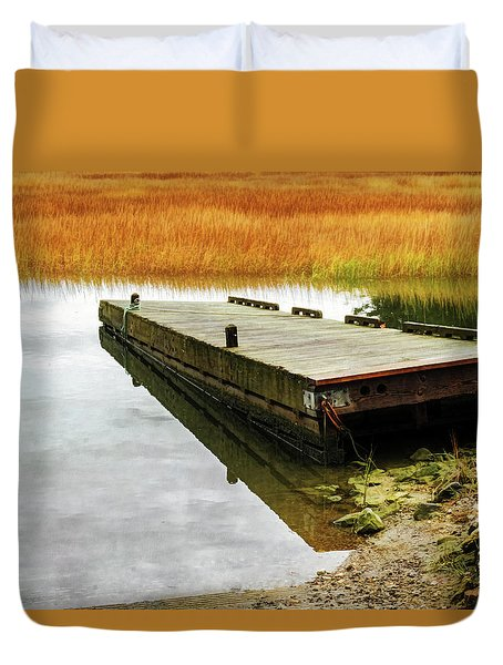 Dock And Marsh Duvet Cover