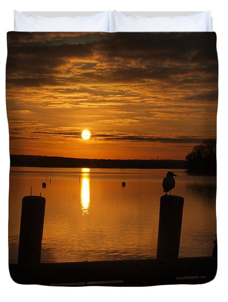 Dock Of The Bay Duvet Cover