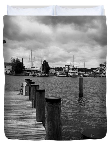 Dock Of The Bay Duvet Cover