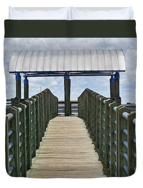 Dock On The Bay 2 Duvet Cover by Cathy Jourdan