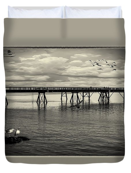 Dock On The Sea Duvet Cover