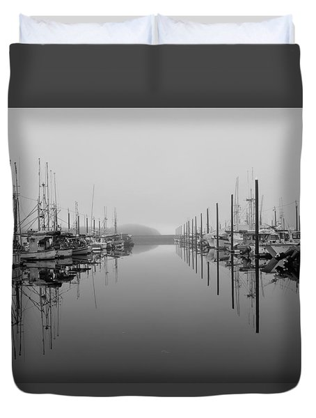 Dock Reflections Duvet Cover