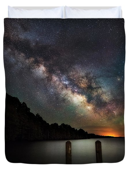 Duvet Cover featuring the photograph Dock by Russell Pugh