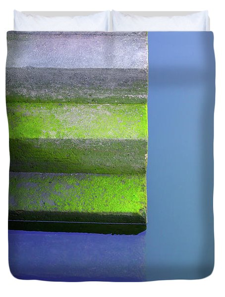 Dock Stairs Duvet Cover by Carlos Caetano