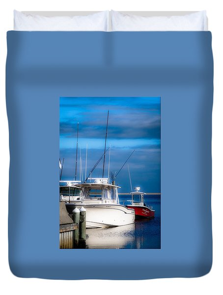 Docked And Quiet Duvet Cover