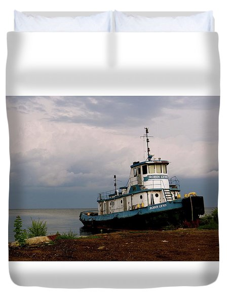Docked On The Shore Duvet Cover