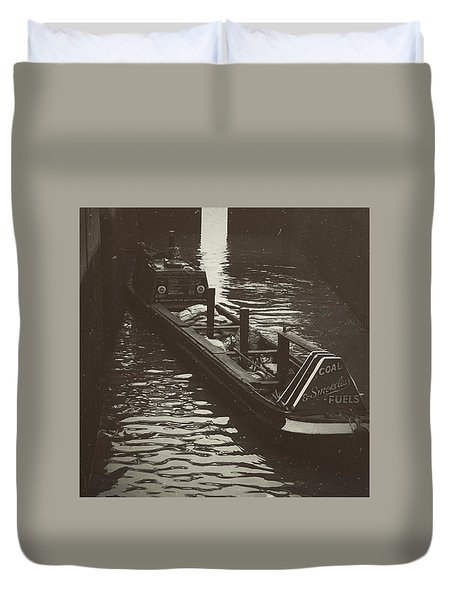 Dockland Daytime  Duvet Cover by Trystan Oldfield