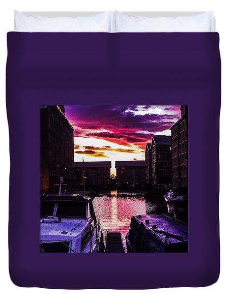 Dockland Sunset Duvet Cover