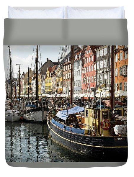 Dockside At Nyhavn Duvet Cover