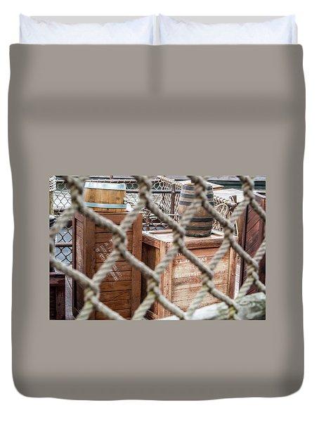 Dockside Crates Duvet Cover by Pamela Williams