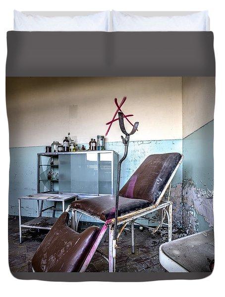 Doctor Chair Awaits Patient - Urbex Duvet Cover by Dirk Ercken