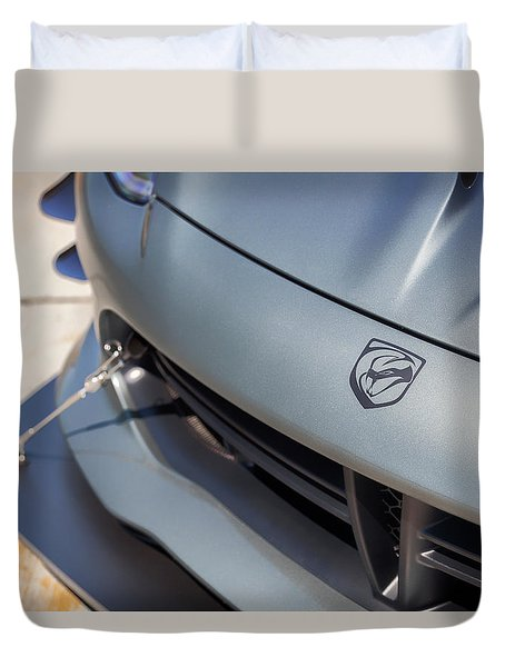 Duvet Cover featuring the photograph #dodge #acr #viper #print by ItzKirb Photography