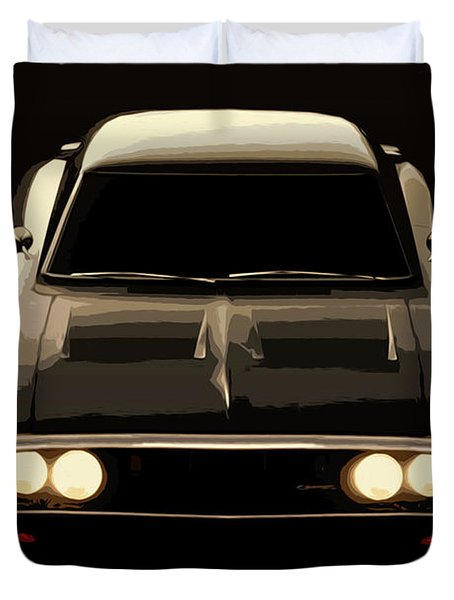 Dodge Charger 1969 Duvet Cover by Andrea Mazzocchetti