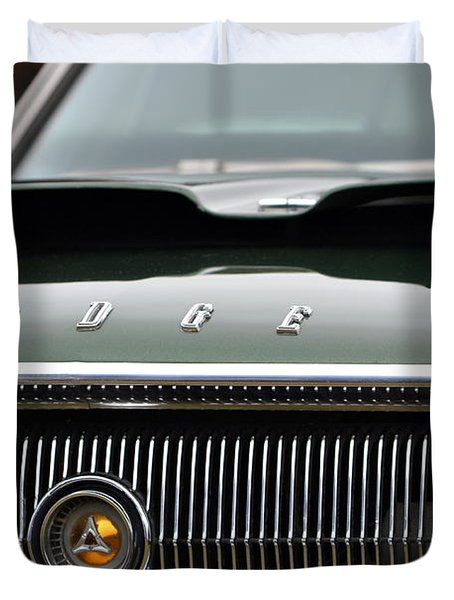 Dodge Charger Hood Duvet Cover by Dean Ferreira