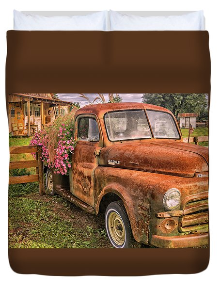 Dodge Flower Pot Duvet Cover