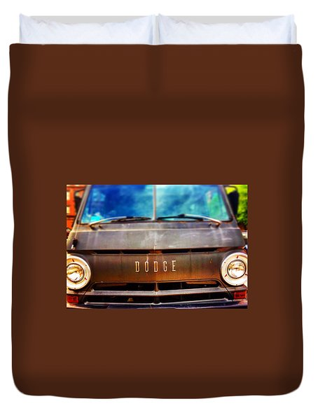 Dodge In Town Duvet Cover by Olivier Calas