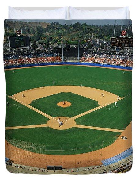 Dodger Stadium Duvet Cover