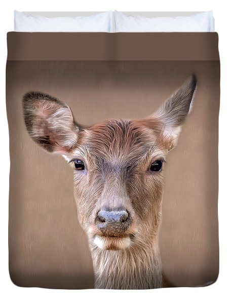 Doe Portrait Duvet Cover