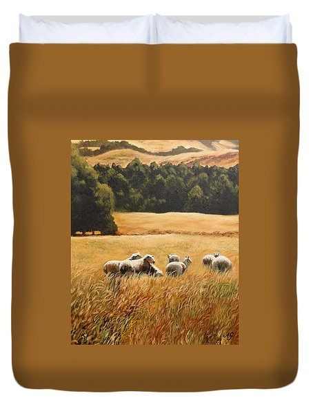 Does My Bum Look Big In This Paddock? Duvet Cover