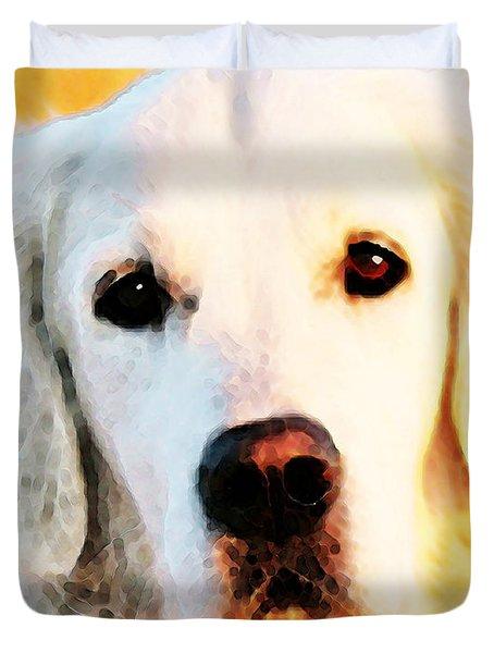 Dog Art - Golden Moments Duvet Cover by Sharon Cummings