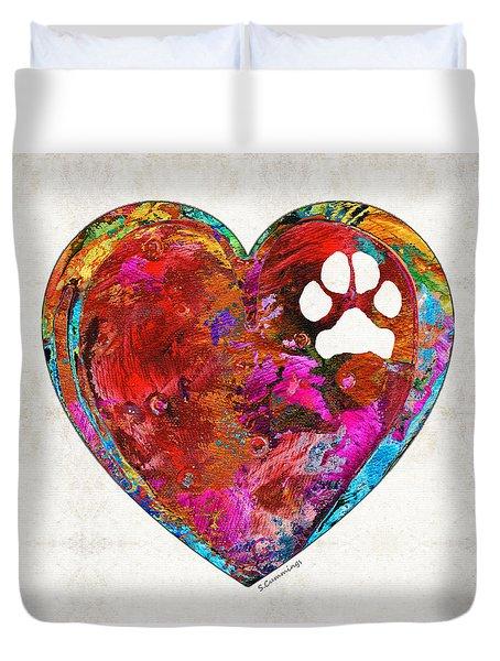 Dog Art - Puppy Love 2 - Sharon Cummings Duvet Cover by Sharon Cummings