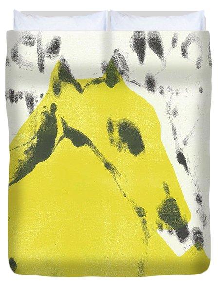 Dog At The Beach - Black Ivory 2 Duvet Cover