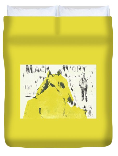 Dog At The Beach - Black Ivory 2 Duvet Cover