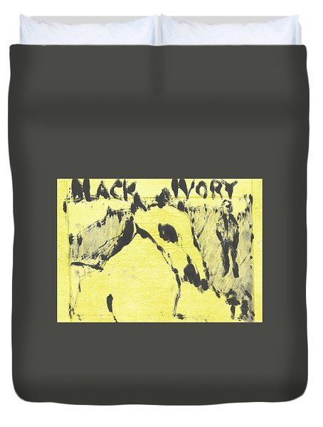 Dog At The Beach - Black Ivory 3 Duvet Cover