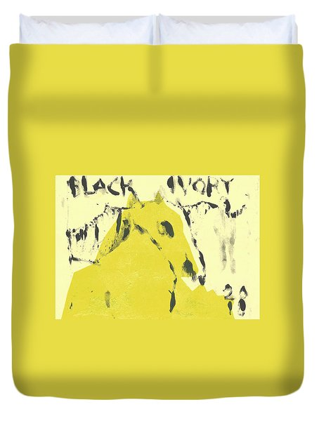 Dog At The Beach - Black Ivory 4 Duvet Cover
