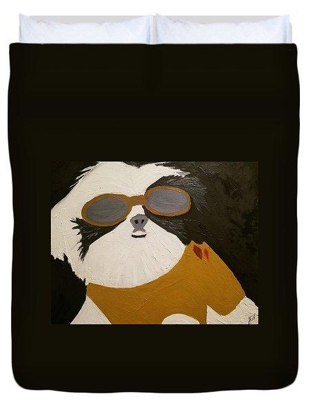 Dog Boss Duvet Cover by J Cv