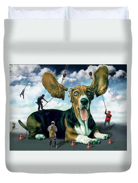 Dog Construction Duvet Cover