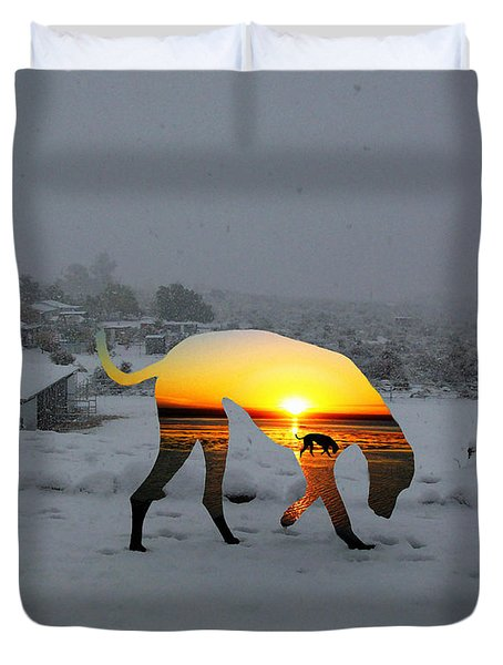 Dog Day Afternoon Duvet Cover by Snake Jagger