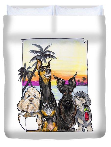 Dog Island Getaway Duvet Cover