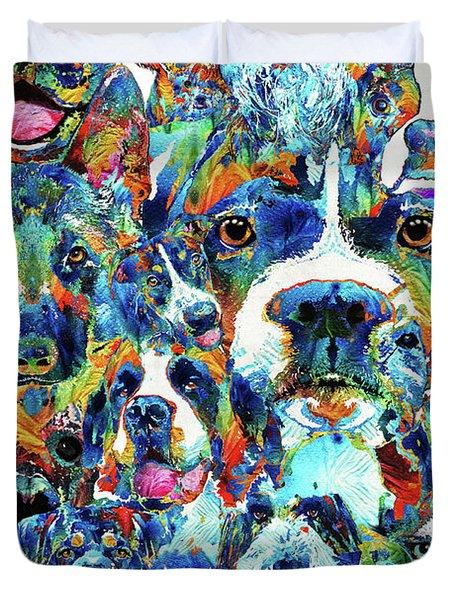 Dog Lovers Delight - Sharon Cummings Duvet Cover by Sharon Cummings