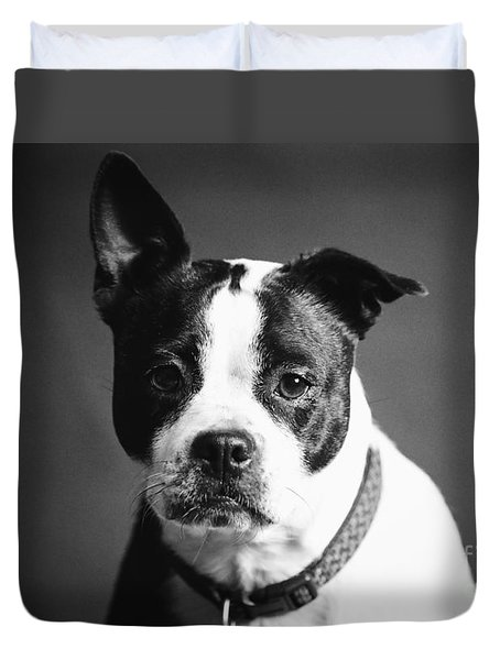 Dog - Monochrome 1 Duvet Cover