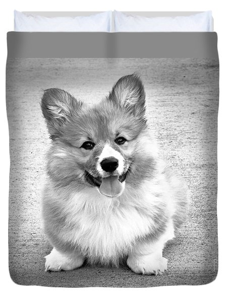 Puppy - Monochrome 6 Duvet Cover