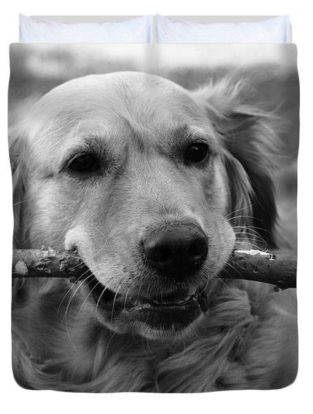 Dog - Monochrome 4 Duvet Cover