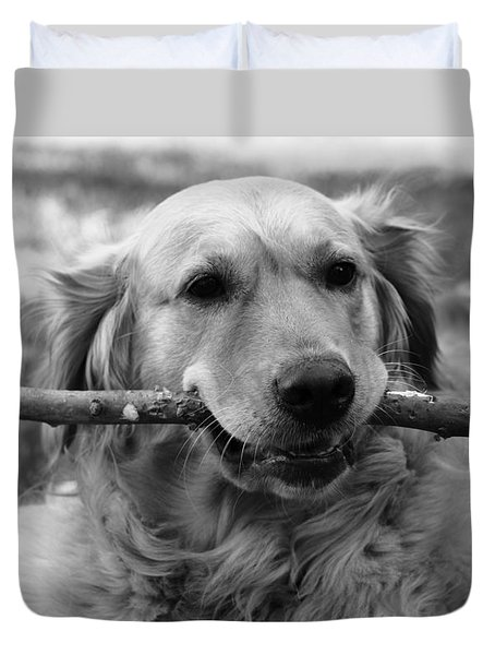 Dog - Monochrome 4 Duvet Cover