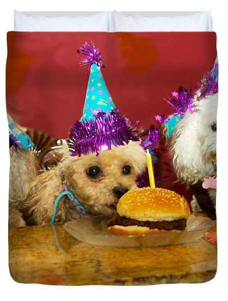 Dog Party Duvet Cover