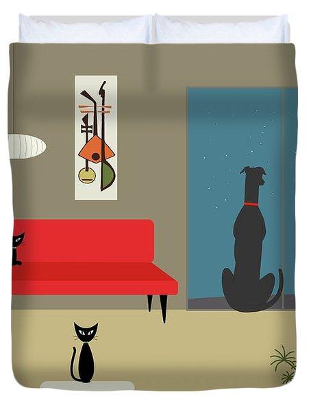 Dog Spies Alien Duvet Cover