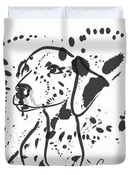 Dog Spot Duvet Cover