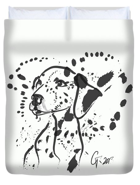 Dog Spot Duvet Cover