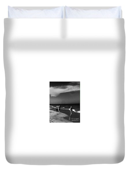 Dog Walk Duvet Cover