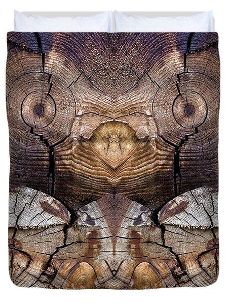 Dog-wood Owl Duvet Cover