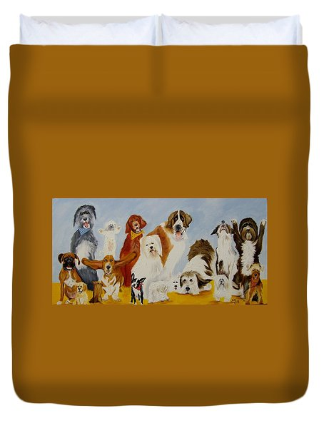 Dogs Are People Too Duvet Cover