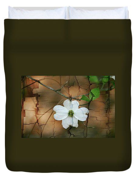 Dogwood Bloom Duvet Cover by Cathy Harper